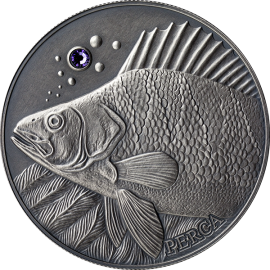 Andorra 2014 10 diners Perch Europe - Atlas of Wildlife Antique finish Silver Coin