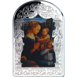 Andorra 2013 15 diners Madonna and Child with Two Angels by Fra Filippo Lippi. The Renaissance Madonna Program (5th issue) Proof Silver Coin