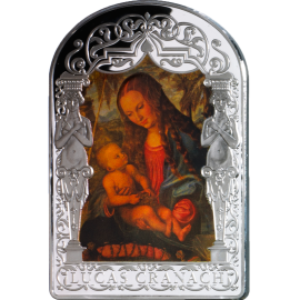 Andorra 2013 15 diners Madonna under the Fir Tree by Lucas Cranach, the Elder. The Renaissance Madonna Program (6th issue) Proof Silver Coin