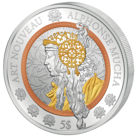 Samoa 2016 10$ Art Nouveau- Alphonse Mucha Proof Silver Coin