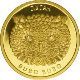 Belarus 2010 50 rubles Eagle Owl - Bubo Bubo Proof Gold Coin