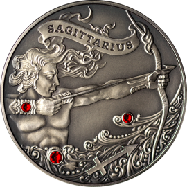 Belarus 2013 20 rubles  Signs of the zodiac Sagittarius Antique finish Silver Coin