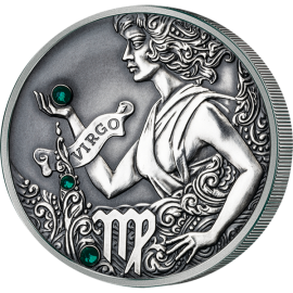 Belarus 2015 20 rubles Virgo Signs of the zodiac  Antique finish Silver Coin