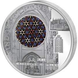 Cook Islands 2016 10$ La Seu Cathedral of Palma Windows of Heaven 50 g Proof-like Silver Coin