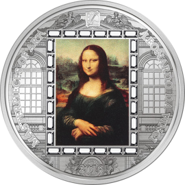 Cook Islands 2016 20$ Mona Lisa Masterpieces Of Art 3 oz Proof Silver Coin
