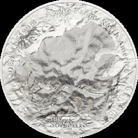 Cook Islands 2016 25$ Denali 7 Summits 5 oz Proof Silver Coin