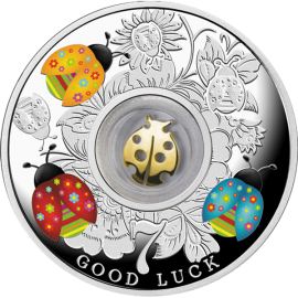 Cameroon 2016 500 Francs Seven Ladybirds - Lucky Seven Proof Silver Coin