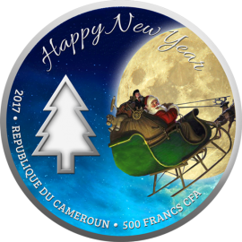Cameroon 2017 500 Francs Magic of Christmas Proof Silver Coin