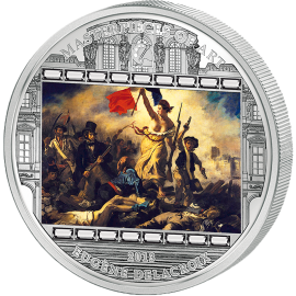 "Cook Islands 2013 20$ ""Liberty Leading the People"" Eugene Delacroix Masterpieces of Art 3 oz Proof Silver Coin"