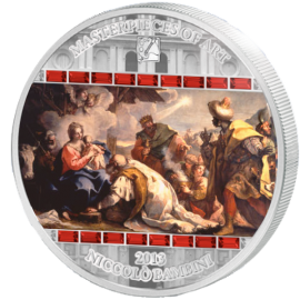 "Cook Islands 2013 20$ ""The Adoration of the Kings"" Masterpieces of Art 3 Oz Proof Silver Coin"