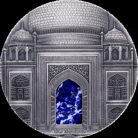 Fiji 2014 100$ Taj Mahal 1 kg  Antique finish Silver Coin