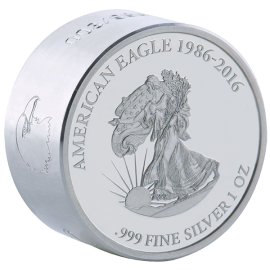 Gabon 2016 1000 Franks Liberty SMICK Ounce 1 oz Proof-like Silver Coin