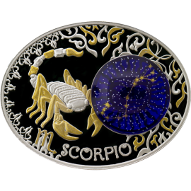 Macedonia 2014 10 Denars Scorpio Signs of the Zodiac Proof Silver Coin