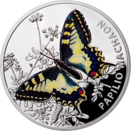 Niue 2011 1$ Old World Swallowtail Butterflies Proof Silver Coin
