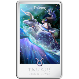 Niue 2011 2$ The Taurus Zodiac Series art by Kagaya Proof Silver Coin