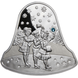 Niue 2012 2$ Christmas Bell 2012 Proof Silver Coin