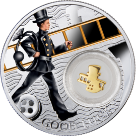 Niue 2014 1$ Chimney Sweep Symbols of Luck 1/2 Oz Proof Silver Coin