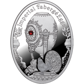 Niue 2012 1$ Cockerel Egg Imperial Faberge Eggs Proof Silver Coin