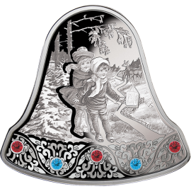 Niue 2013 2$ Christmas Bell 2013 Proof Silver Coin