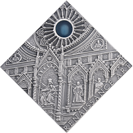 Niue 2014 1$ Renaissance Art The Art that Changed the World  Antique finish Silver Coin