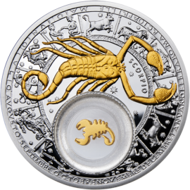 Belarus 2013 20 rubles  Belarus Zodiac 2013 Scorpio Proof Silver Coin
