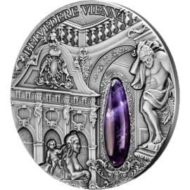 Niue 2015 2$ Winter Palace  Belvedere Vienna Antique finish Silver Coin