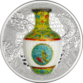 Niue 2016 1$ Technology that Changed the World - Qing Dynasty Vase Proof Silver coin