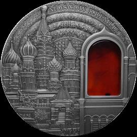 Palau 2012 10$ Kremlin Mineral Art 2 oz UNC Silver Coin
