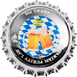 Palau 2016 1$ 500 Years Bavarian Purity Law 2.5g Proof-like Silver Coin