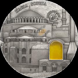 Palau 2016 10$ Hagia Sophia Istanbul Mineral Art 2 oz Antique finish Silver Coin