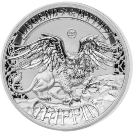 Solomon Islands 2016 5$ Griffin - Legends and Myths 2 oz Reverse Proof Silver Coin