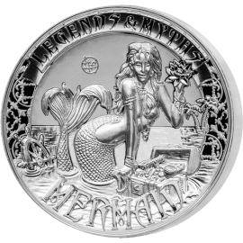 Solomon Islands 2016 5$ Mermaid - Legends and Myths 2 oz Reverse Proof Silver Coin